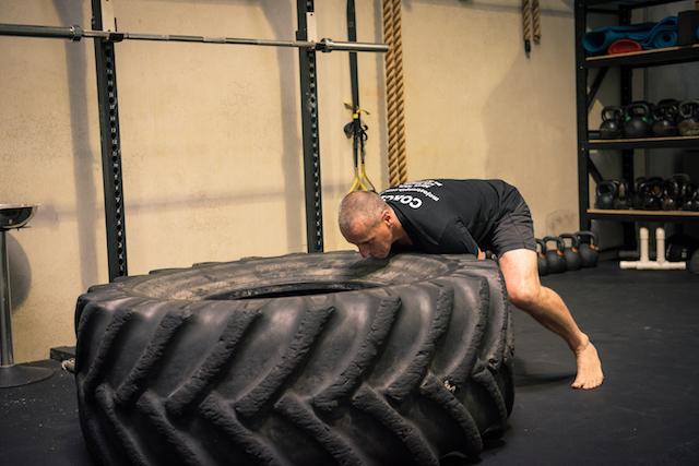 bondi junction strength program tyre flip